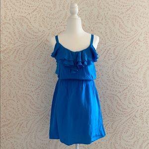 Bloomingdales Aqua silk dress XS